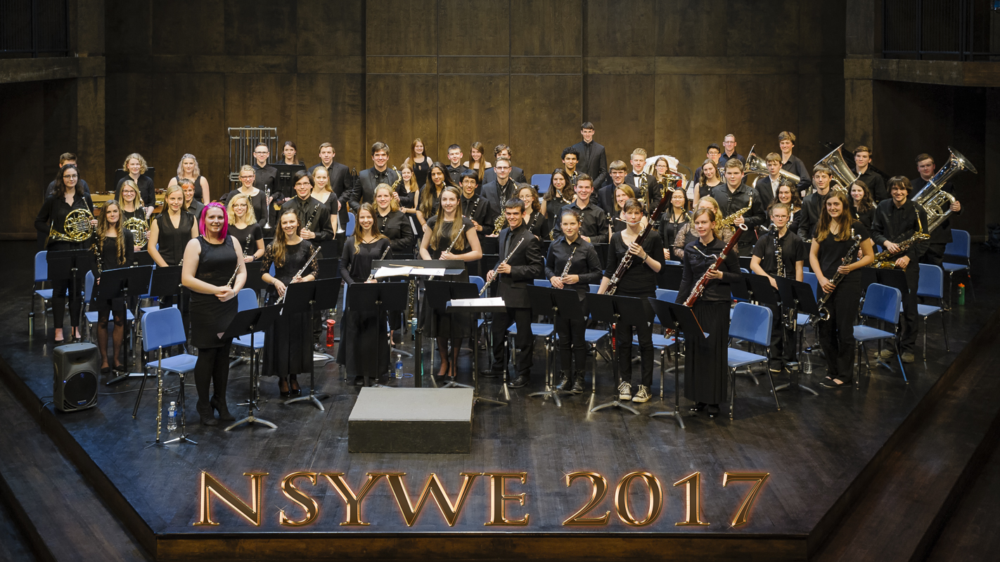 photo - Nova Scotia Youth Wind Ensemble at Acadia University in 2017.